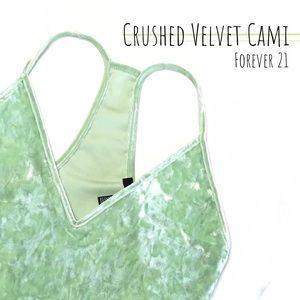NWOT Forever 21 Crushed Velvet Racerback Cami Top